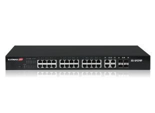 Edimax Pro ES-5424P Long Range PoE Web Smart Switch, 24-port