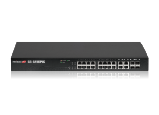 Edimax Pro GS-5416PLC Long Range Gigabit PoE Web Smart Switch, 16-Port