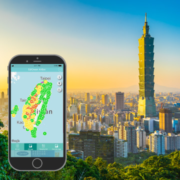 EDIMAX AirBox case study Taiwan 6 cities