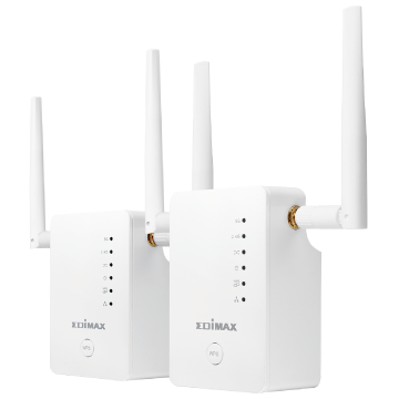 Edimax Home Networking Gemini RE11 Whole Home Wi-Fi Upgrade Kit Expand Your Whole-Home Reliable Wi-Fi Coverage