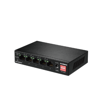 Edimax Home Networking ES-5104PH V2 Long Range 5-Port Fast Ethernet Switch with 4 PoE+ Ports & Range Extend, VLAN, QoSDIP Switch