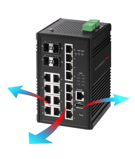 Edimax Pro Industrial Switch, durable, enduring and fanless design, IGS-5208, IGS-5408P, IGS-5416P