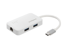 Edimax EU-4308 USB-C to 3-Port USB 3.0 Gigabit Ethernet Hub