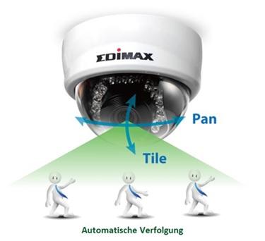 edimax netzwerkkameras mini dome 2mpx pan tilt. Black Bedroom Furniture Sets. Home Design Ideas