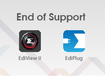 End-of-Support for EdiView II and EdiPlug