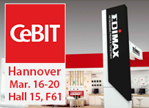 Edimax in CeBIT Hannover, March 16-20, Hall 15, F61
