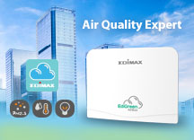 Edimax, air quality expert, air box, Air Quality Monitoring, Air Quality Detection, Real-time Reports, EdiGreen