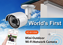 Edimax IC-9110W HD Wi-Fi Mini Outdoor Network Camera with 139 Degree Wide Angle View, Day & Night