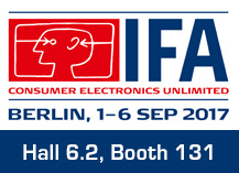IFA 2017 (Sep. 01-06, Berlin, Germany)