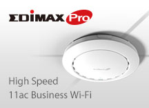 Edimax Pro, Enterprise Wi-Fi, Access Point, AC1300, Wave 2 Dual-Band Ceiling-Mount PoE Access Point