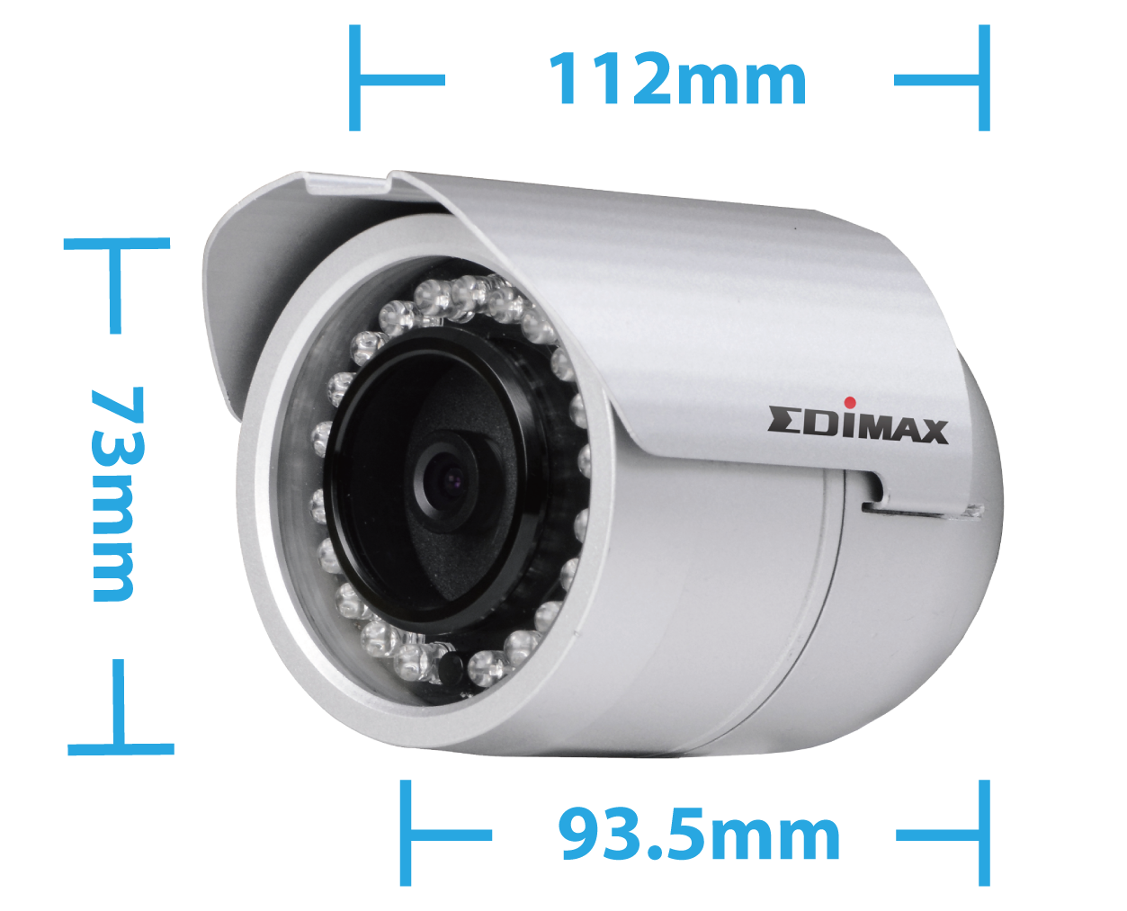 Edimax IR-112E 2Mpx Outdoor PoE True Day & Night Bullet Network Camera Bullet Network Camera IR-112E_Compact_Bullet_design.png
