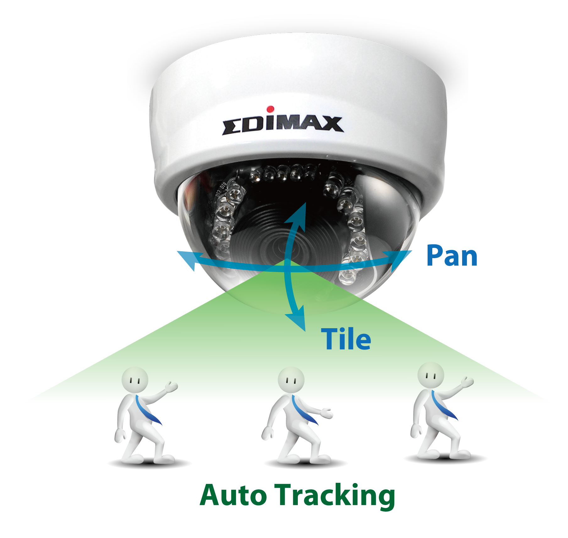 Edimax PT-111E 1MP Indoor PT Auto Tracking Mini Dome Network Camera, Mini_dome_Pan/Tilt & Auto Tracking