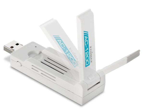 Edimax EW-7822UAC AC1200 Wireless Dual-Band USB Adapter with 180 Degree Adjustable Foldaway Antenna
