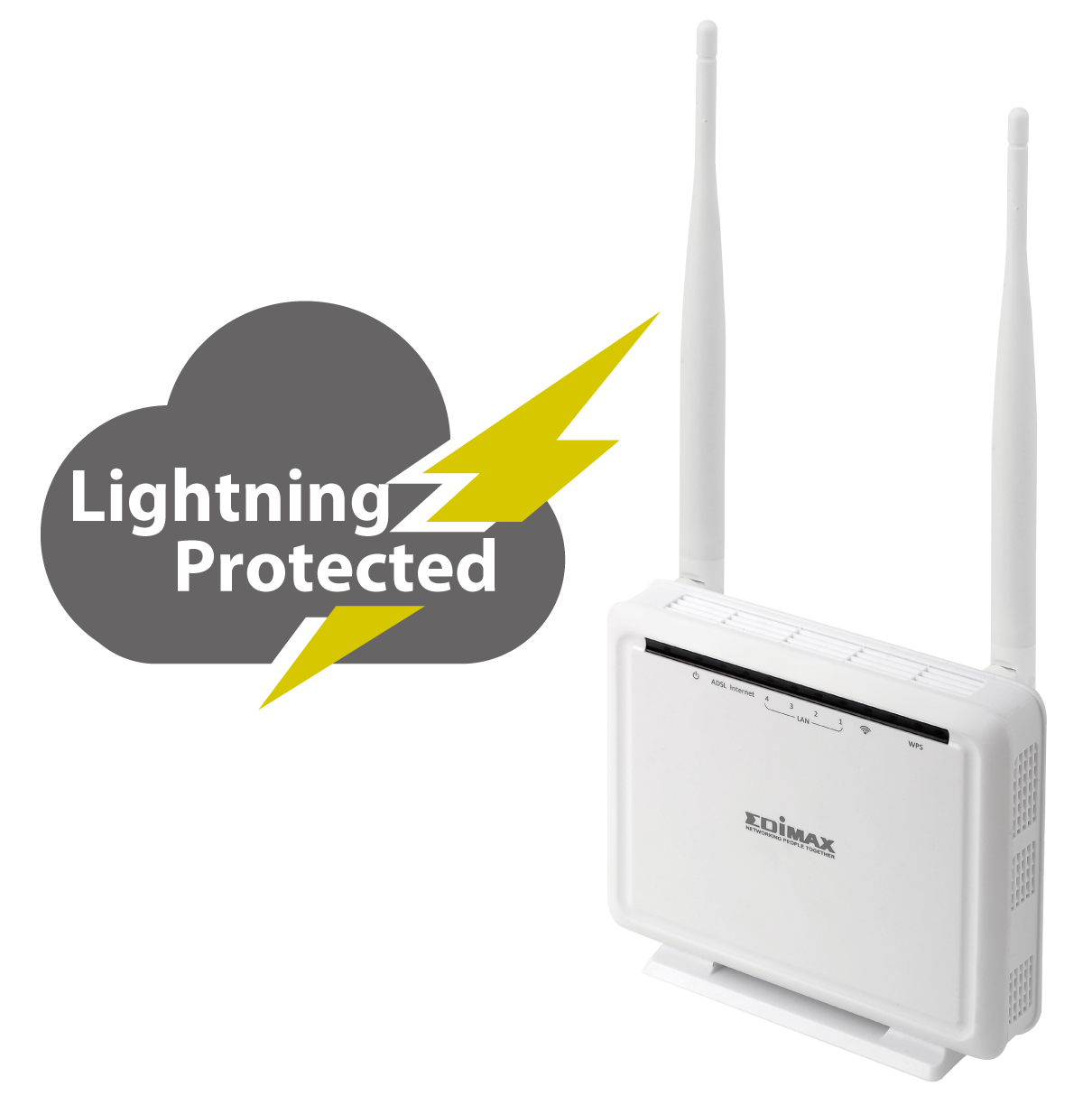 Edimax N300 Wireless ADSL Modem Router AR-7286WnAB_lightning_protected.png