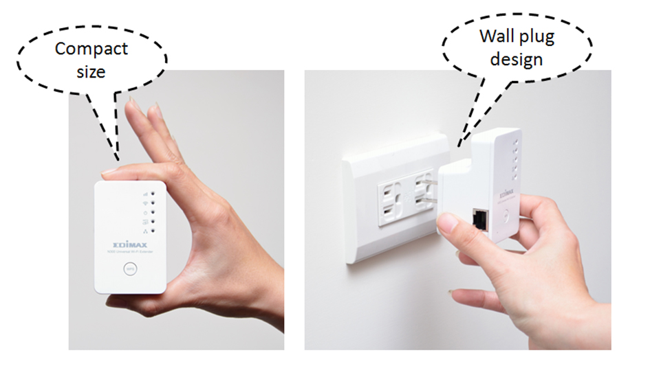 Edimax EW-7438RPn N300 Universal Smart Wi-Fi Extender/Access Point EW-7438RPn_compact_wallplug.jpg