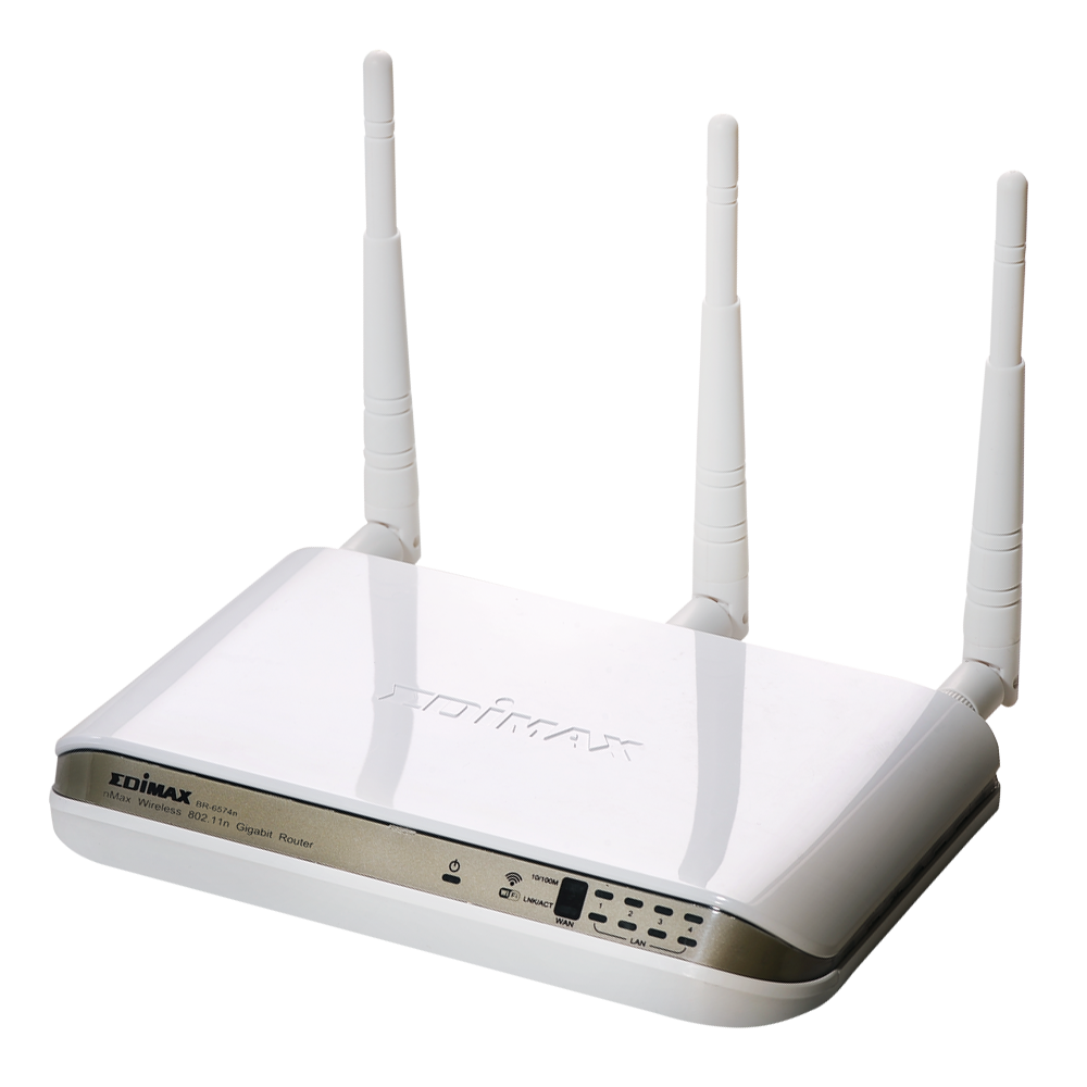 EDIMAX - Wireless Routers - N300 - 300Mbps Wireless Gigabit Broadband Router