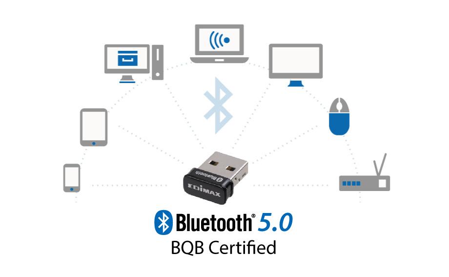 Edimax BT-8500 Bluetooth 5.0 Wireless USB Adapter, BQB Certified