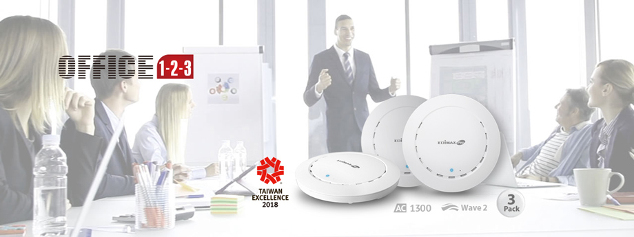 Edimax Pro Office 1-2-3 Office Wi-Fi System for SMB Office