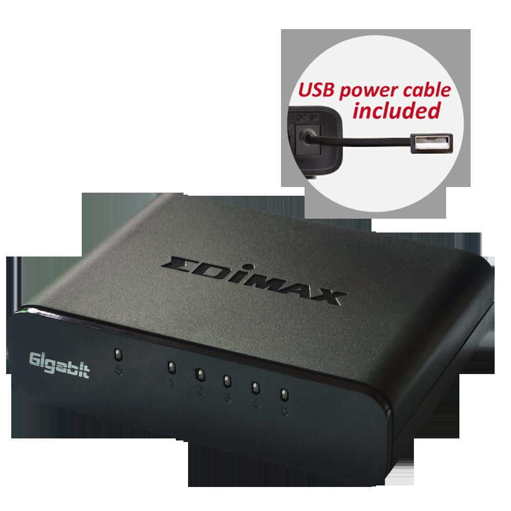 EDIMAX - Switches - Gigabit Ethernet - 5-Port Gigabit