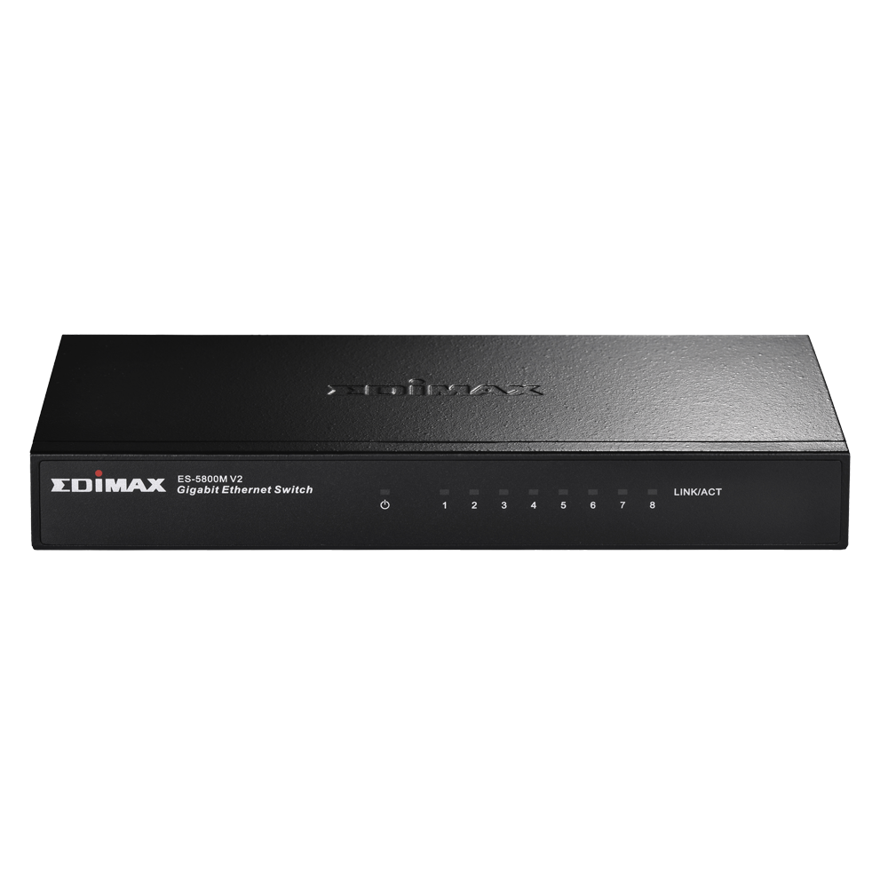 EDIMAX - Switches - Gigabit Ethernet - 8-Port Gigabit Desktop Switch