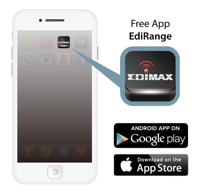 Smart N300 Pass-Through Wi-Fi Extender/Access Point/Wi-Fi Bridge, EdiRange App