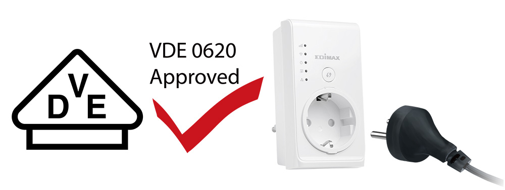 Smart N300 Pass-Through Wi-Fi Extender/Access Point/Wi-Fi Bridge, VDE 0620 approved