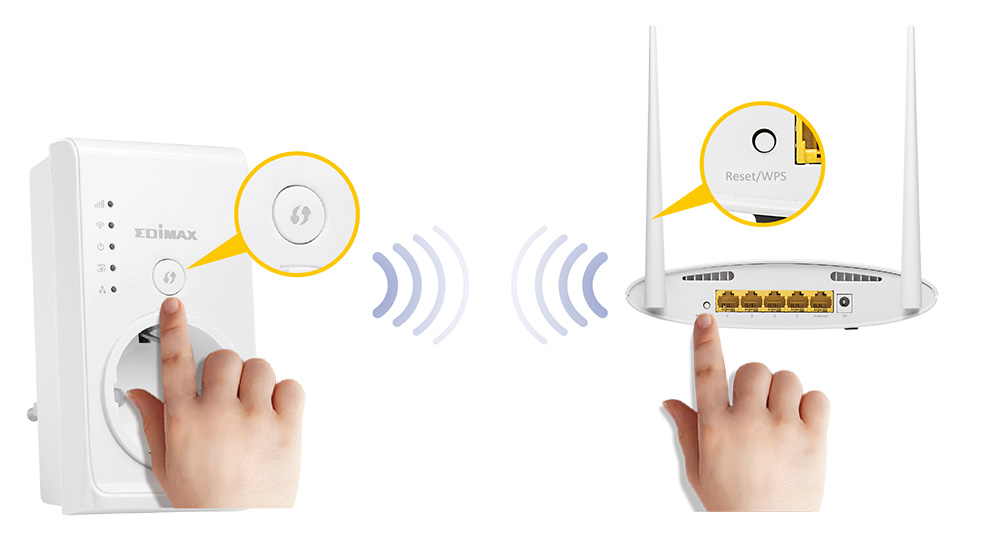 Smart N300 Pass-Through Wi-Fi Extender/Access Point/Wi-Fi Bridge, WPS setup