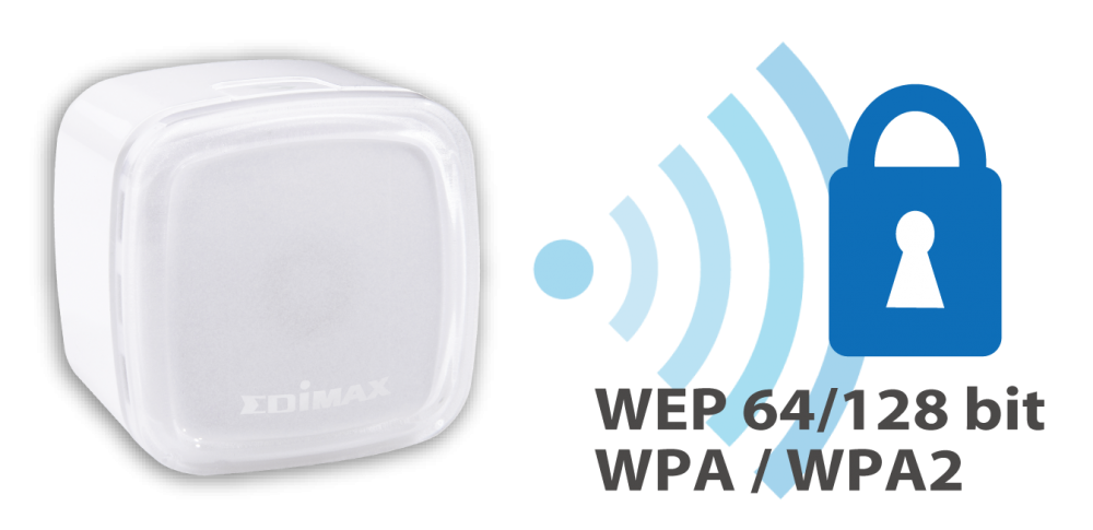 Edimax N300 Smart Wi-Fi Extender with EdiRange App EW-7438RPn_Air_Wi-Fi_Security_WEP_WPA_WPA2.png