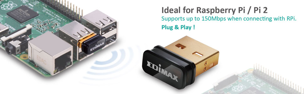 EW-7811Un Ideal for Raspberry Pi/P2, Plug & Play