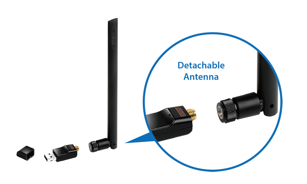 Edimax EW-7811USC AC600 Wi-Fi Dual-Band USB Adapter Detachable antenna