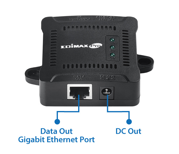 Edimax GP-101ST IEEE 802.3at Gigabit PoE+ Splitter with Adjustable 5V DC, 9V DC, 12V DC Output
