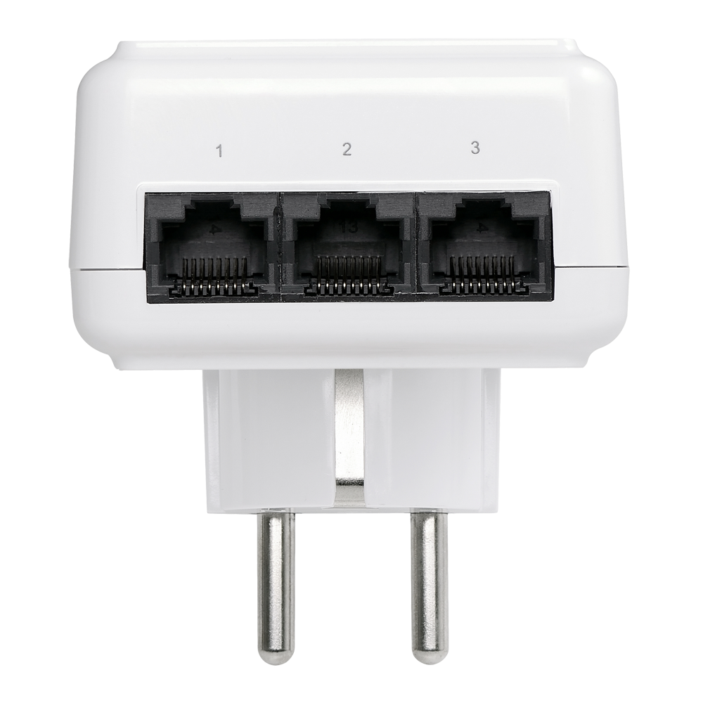Edimax legacy products powerline av500 powerline 3 port switch with integrated power socket - Mini switch ethernet 3 ports ...