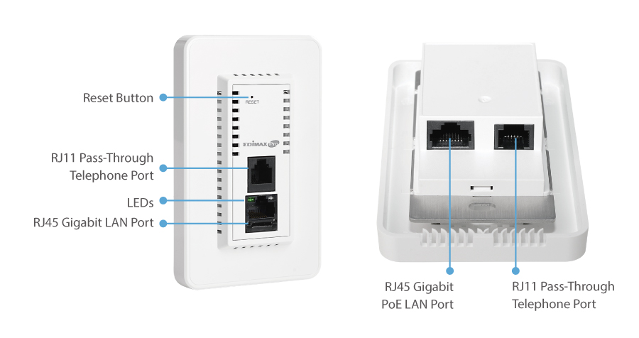 Edimax Pro IAP1200 2 x 2 AC1200 Dual-Band In-Wall PoE Access Point, Edimax Pro central Network Management Suite (NMS)