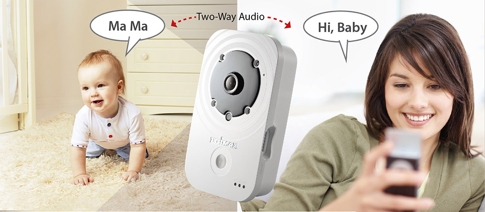 Edimax IC-3140W HD Wireless Day & Night Network Camera, IC-3140_2-way_audio_mami_baby.jpg