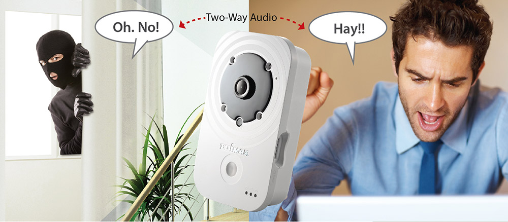Edimax IC-3140W HD Wireless Day & Night Network Camera, IC-3140_2-way_audio_thief_deterrent_alarm.jpg