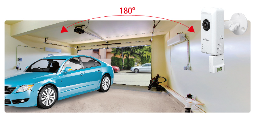 Edimax IC-5160GC Garage Door Camera with 180-Degree Panoramic View
