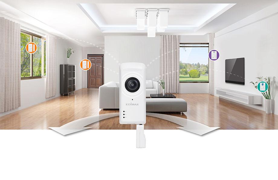 smart home sicherheitspaket das perfekte smart home starterpaket edimax. Black Bedroom Furniture Sets. Home Design Ideas
