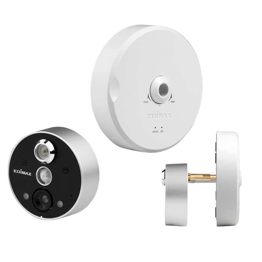 Edimax Smart Wireless Peephole Door Camera   EDIMAX