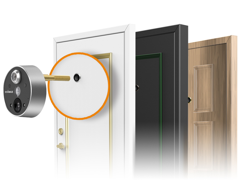 Edimax Smart Wireless Peephole Door Camera Edimax