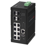 Edimax Pro Industrial Switch IGS-5408P for Harsh Environment in IIoT and Smart City, Manufacturing, Automotive